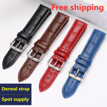 watchband Luxury watch belt strap wristwatches band Female red white black 10 12 14 15 16 17 18 19 20 21 22 24mm Genuine leather(China)