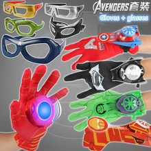 Avengers 4 Avengers Endgame Captain America Iron Man Hulk Batman Toy Glasses Iron Man Gloves Hulk Captain America Palm Launcher