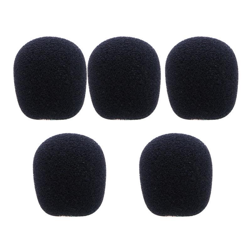 OOTDTY New 2017 arrival 5PCS 5 Sizes Black Microphone Windscreen Headset Foam Sponge Mic Cover
