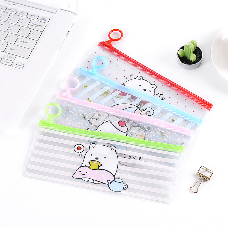 Cartoon Clear Woman Cosmetic Bag Portable Transparent PVC Makeup Bag Travel Zipper Toiletry Wash Pouch Toothbrush Organizer Bag