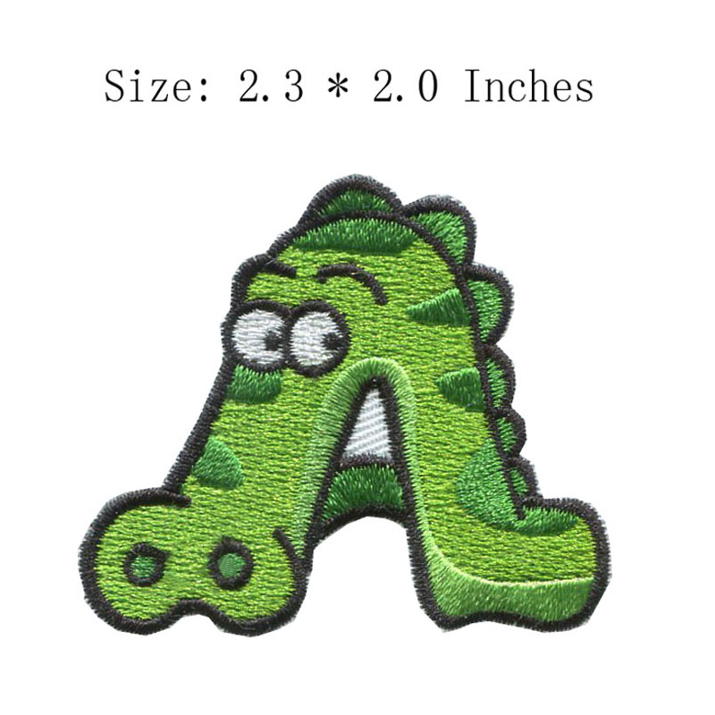 Green mountain A text 2.3wide DIY new fonts embroidery patch for deer/water patch/eyes image
