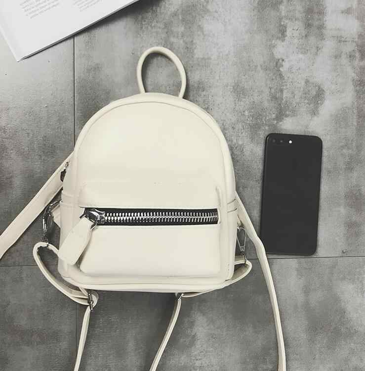 14a1e8875a ... School Backpacks 2018 Fashion New Women Mini Backpack High quality PU  Leather Women Shoulder Bags Simple ...