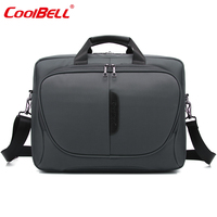 CoolBell Nylon Waterproof Men Women Laptop Computer Notebook Bag 15 6 Inch Business Briefcase 2017 Fashion