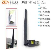 V8 USB wifi com Antena para V7 V8 Super V8 Golden USB Receptor Wi-fi Sem Fio receptor de satélite digital de tv e outras caixa