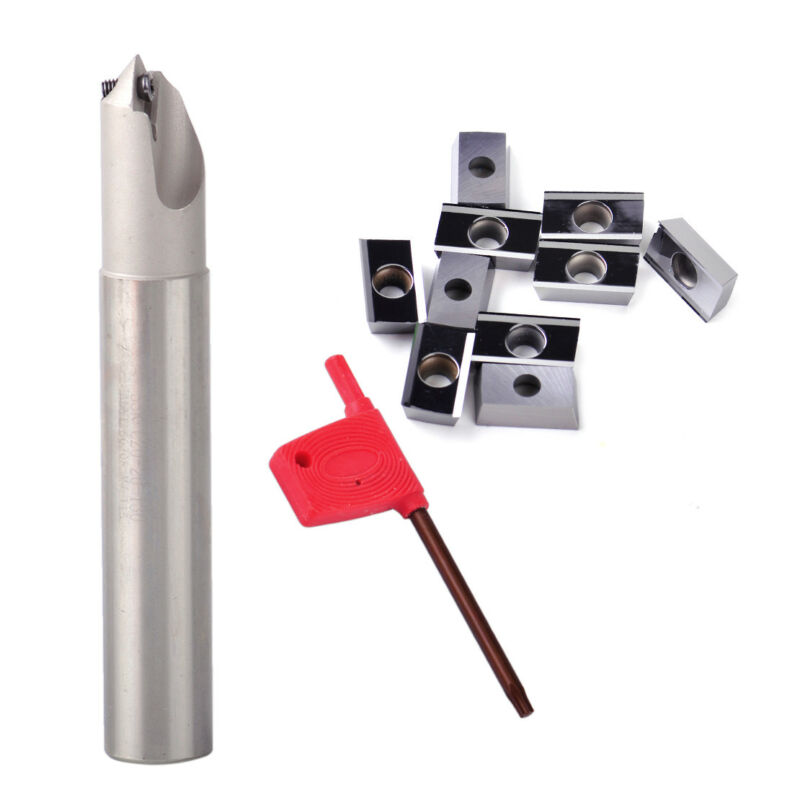45 Chamfering Tool Holder End Mill With Screw + T15 Wrench +10pcs Milling Insert Tool Part