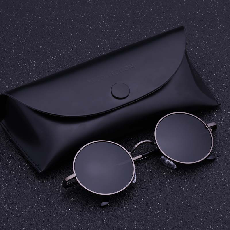 Black Metal Polarized Sunglasses Gothic