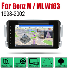 Car DVD Player For Mercedes Benz M / ML W163 1998~2002 NTG IPS LCD Screen GPS Navigation Android System Radio Audio Video Stereo for ntg4 0 ntg 4 5 ntg 4 7 ntg 5s1 tv free video in motion