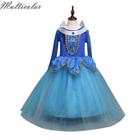 High Party Wedding Anna Elsa Dress Baby Girl Dresses Lace Dress Party Costume Princess Kids Cartoon