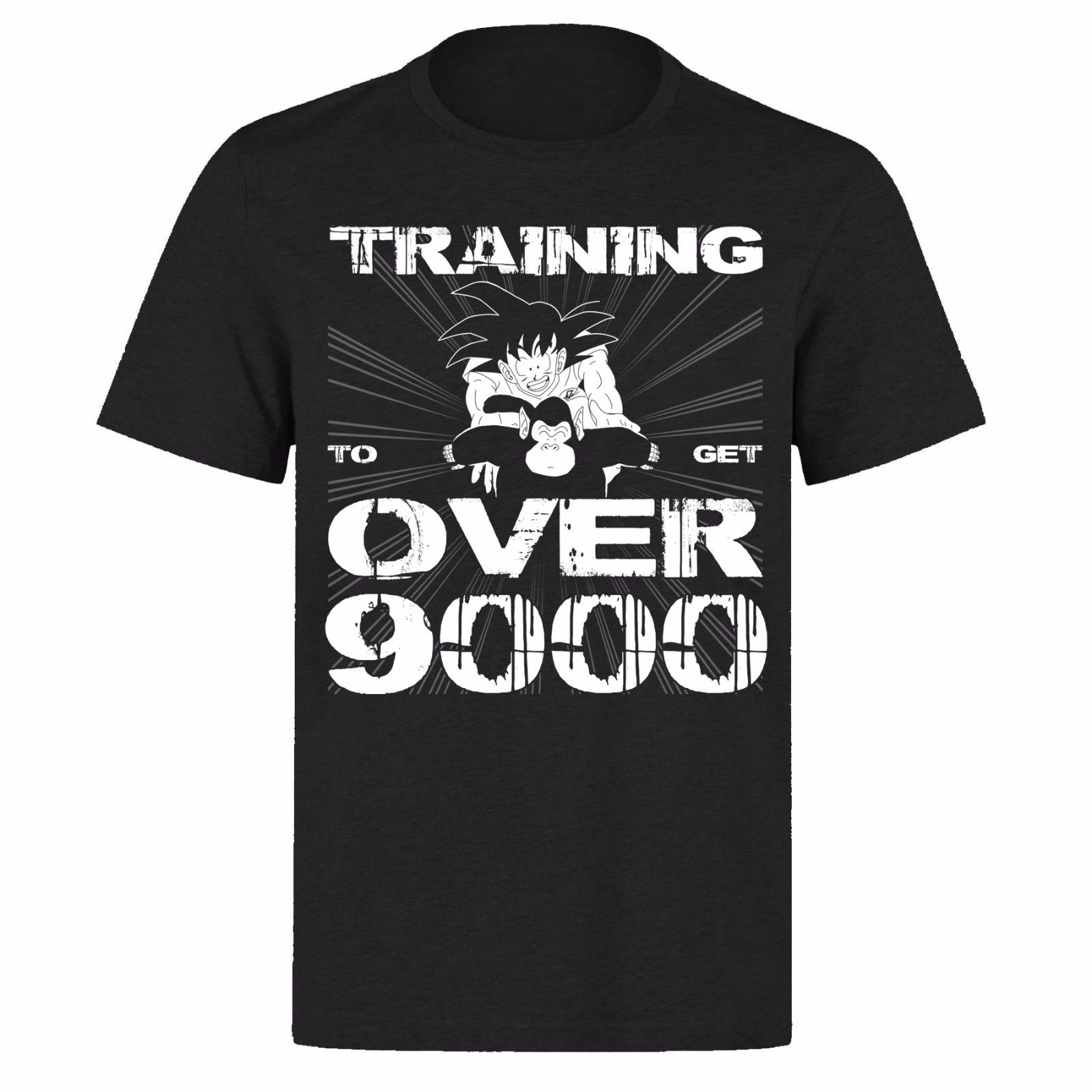 GOKU TRAININGer TO GET OVER 9000 UNISEX BLACK CLASSIC GAMERS PH11 T-SHIRT Funny Clothing Casual Short Sleeve T Shirts