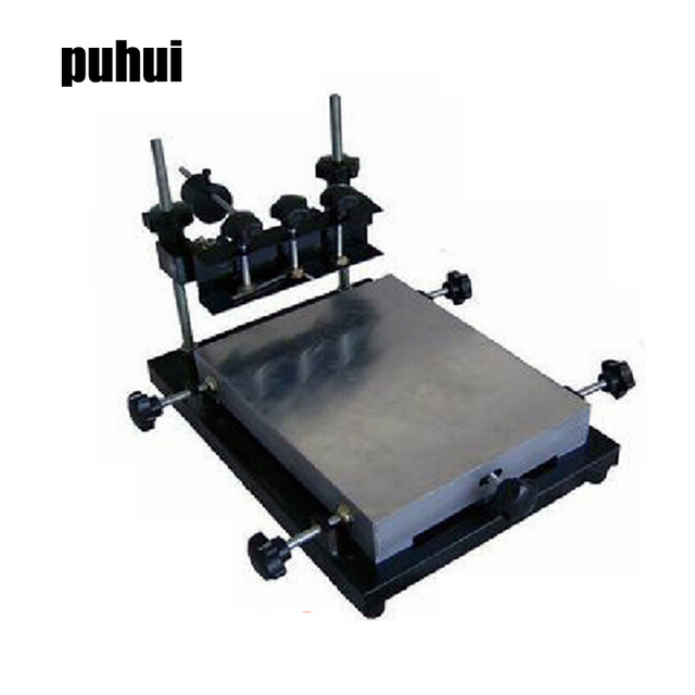 Authorized New Arrival PUHUI 300x240mm Size Manual Stencil Printer Machine, Silk printing machine
