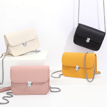 Genuine Leather  Women Messenger Bag Female Chain Strap Shoulder Bag Small Criss-Cross Ladies' Flap Bag