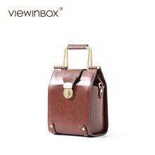 Viewinbox Brand Vintage Mini Doctor Women Bag Case Casual Lady handbag Solid Crossbody Shoulder Bag