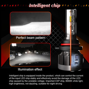 Image 3 - אוטומטי LED אור CSP H7 H1 H4 רכב פנס נורות H11 9005 9006 H8 H9 HB3 HB4 HB2 9003 12V 24V רכב אורות 60W 10000LM 6000K