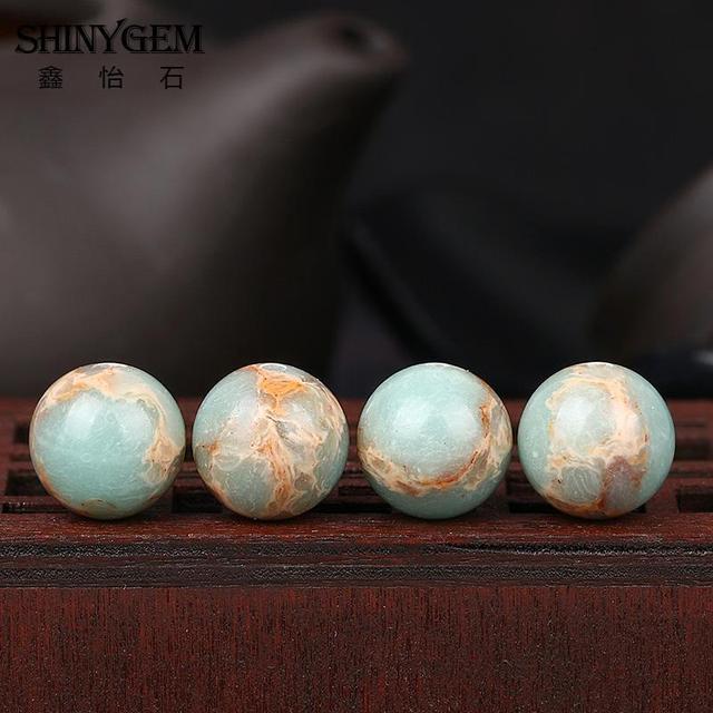 Купить shinygem 4/6/8/10/12 мм круглые змеиные бусины уникальный синий