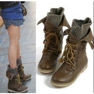 size 34-39 Women s autumn cute flat ankle short boots.Knitting lace-up shoes.motorcycle  riding shoe .xz056 sale e987ce09e