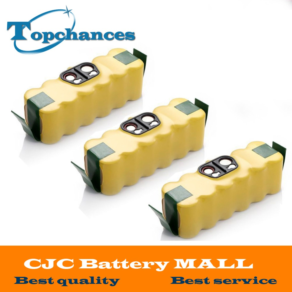 ФОТО 3x 14.4V 3500mAh Ni-MH Battery for iRobot Roomba Vacuum Cleaner for 500 560 530 510 562 550 570 581 610 650 790 780 532 760 770