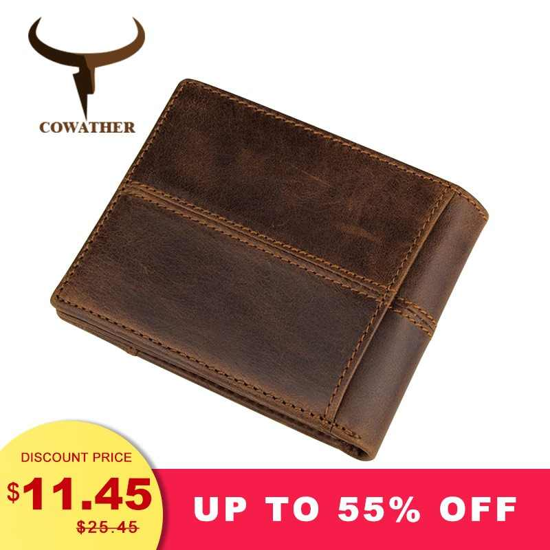 fdd7dad58fa7 COWATHER 100% одежда высшего качества корова пояса из натуральной кожи для  мужчин женские кошельки мода