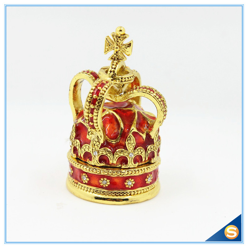 Free Shipping Cross Crown Trinket Box Ring Jewelry Box Ring - Home Decor - Photo 1