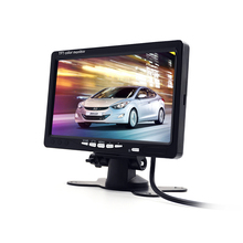 Carsanbo 7 Inch TFT LCD Color Display Monitor Reverse System For Car Rear View Camera With IR Remote Control diykit 2 x ir ccd rear view car camera 7 inch hd tft lcd car monitor reverse rear view monitor screen remote control