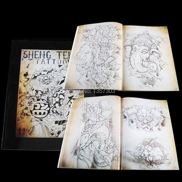 14 53 20 De Reduction Date Japonais Traditionnel Top Tatouage Flash Livre Bouddha Ganesh Koi Hannya A4 43 Pages Dans Tatouage Accessoires De Beaute
