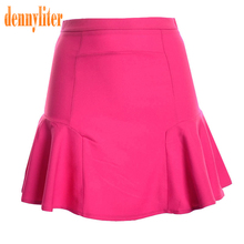 DENNYLITER 2017 Summer Autumn Sexy Office Skirt Women Elastic High Waist Skirts Casual Elegant Ladies Skirt