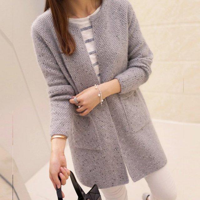 осень зима модный кардиган для женщин повседневное с длинным рукавом