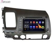 TOPNAVI 7 ''четырехъядерный Android 6,0 Автомобильный gps навигация для CIVIC левое Вождение 2006 2007 2008 2009 2010 2011 для Honda автомобильный DVD
