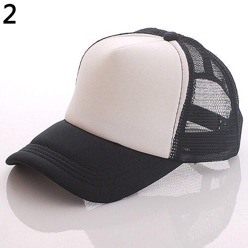 Unisex Attractive Baseball Cap Trucker Mesh Blank Visor Adjustable Sun Hat basic adjustable baseball cap pigment dye hats monogram hat blank unisex adult clothing