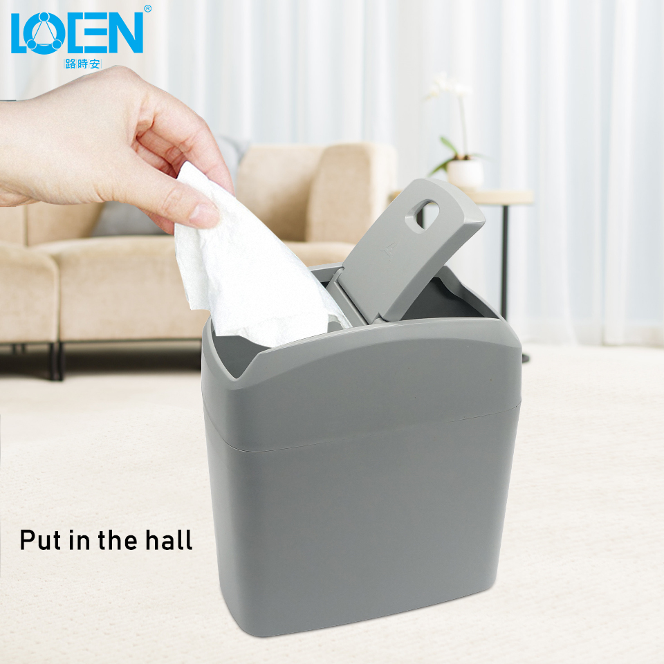 LOEN New 1PCS Car Garbage Can Car Trash Box Multifunction Can Garbage Dust Case Holder Bin Car Styling For Car Home Office
