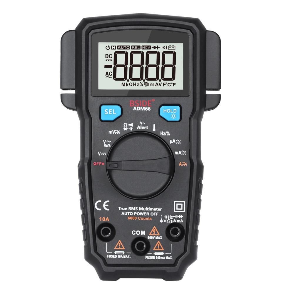 Mini Digital Multimeter True RMS Multimetro Voltage Current Meter Capacitance Resistance Diode Voltmeter Ammeter Tester LCD f47n multimeter pointer mechanical capacitance meter ammeter voltmeter pocket