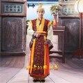 Venta caliente de los hombres chinos tradicionales del emperador prince dramatúrgica vestuario robe dress!!! envío Libre --- AK0022