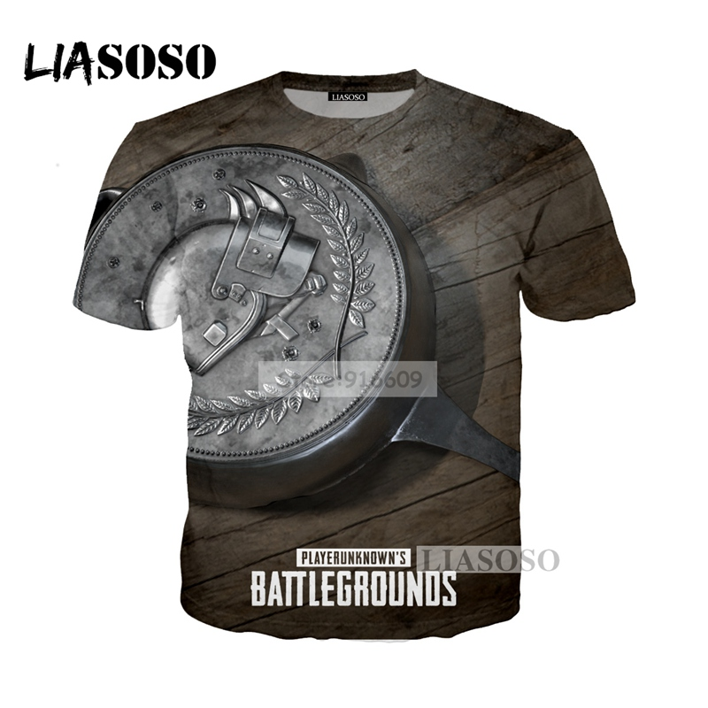 LIASOSO NEW Game Playerunknowns Battlegrounds PUBG Tees 3D Print T shirt/Hoodie/Sweatshirt Unisex Winner Energy Pan Tops G645