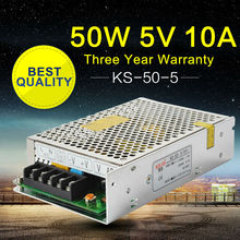 5V Power Supply 10A 50W AC-DC 220V to 5V Switching Power Supply for Led Strip 3D Printers Repeater VHF Ham Radio 100% Authentic