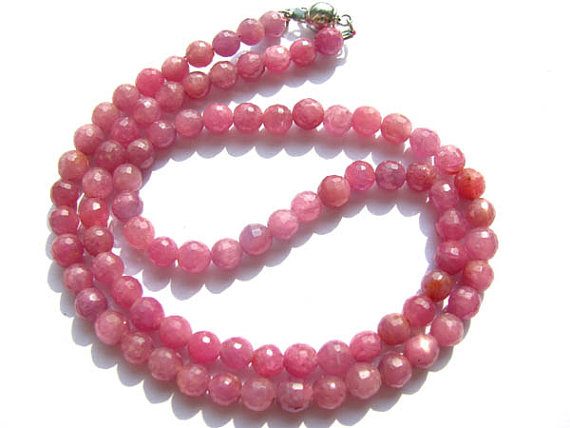 high quality Genuine Raw Ruby necklace ,sapphire blue Bead round ball faceted jewelry suippers red necklace 4-8mm 17inchhigh quality Genuine Raw Ruby necklace ,sapphire blue Bead round ball faceted jewelry suippers red necklace 4-8mm 17inch