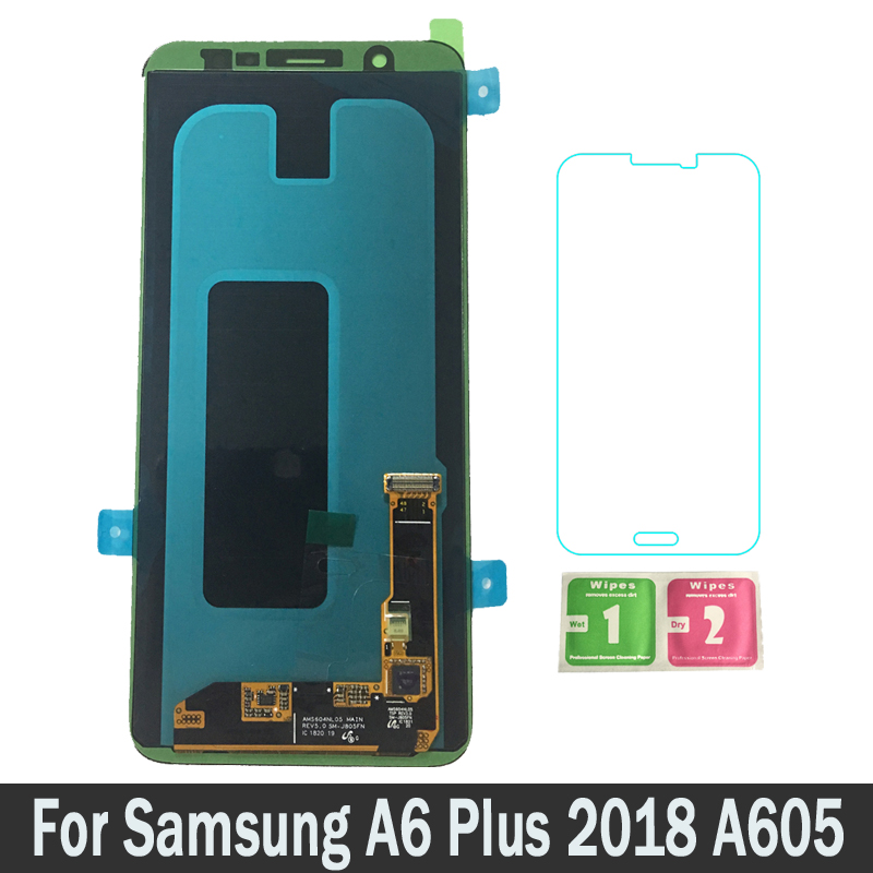 Новый Запчасти для авто ЖК-дисплей s для Samsung Galaxy A6 плюс A6 + A605 A605F ЖК-дисплей с цифровым преобразователем сенсорного ввода в сборе