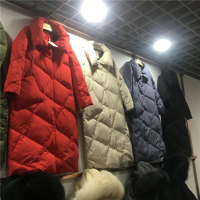 LMCAVASUN High Quality Winter New Collection Women Hooded Long   Down     Coat   Female Winter Warm Thick   Down   Jacket White duck   down
