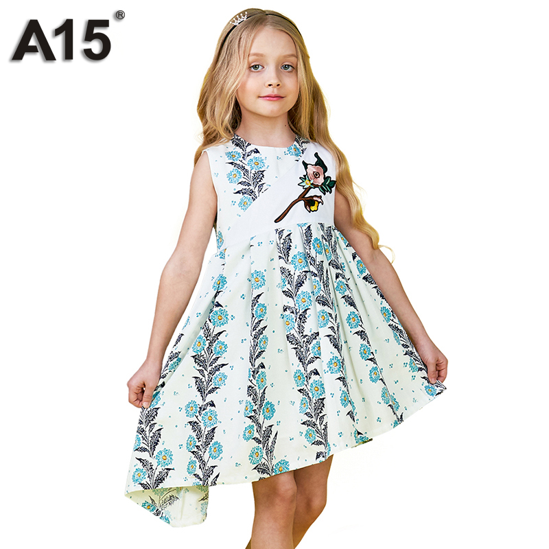 A15 Girls Dress Wedding Princess Kids Dresses for Girl 2018 Cute Summer Little Baby Girl Birthday Party Dress 3 4 5 8 10 12 Year summer 2017 new girl dress baby princess dresses flower girls dresses for party and wedding kids children clothing 4 6 8 10 year