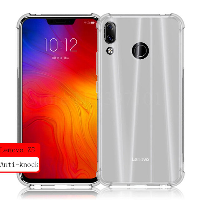 huge selection of f31de 9a166 US $1.9 5% OFF|For Lenovo Z5 Z 5 L78011 6.2 inch Case Lenovo Z5 Shockproof  Case Soft Clear TPU Case For Lenovo Z5 Case Silicone Back Cover Bag-in ...