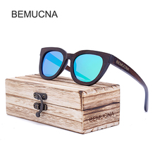 2017 New BEMUCNA Fashion Products Men Women Sunglasses Polarized Bamboo Sunglasses Retro Vintage Wood Lens Wooden Frame Handmade