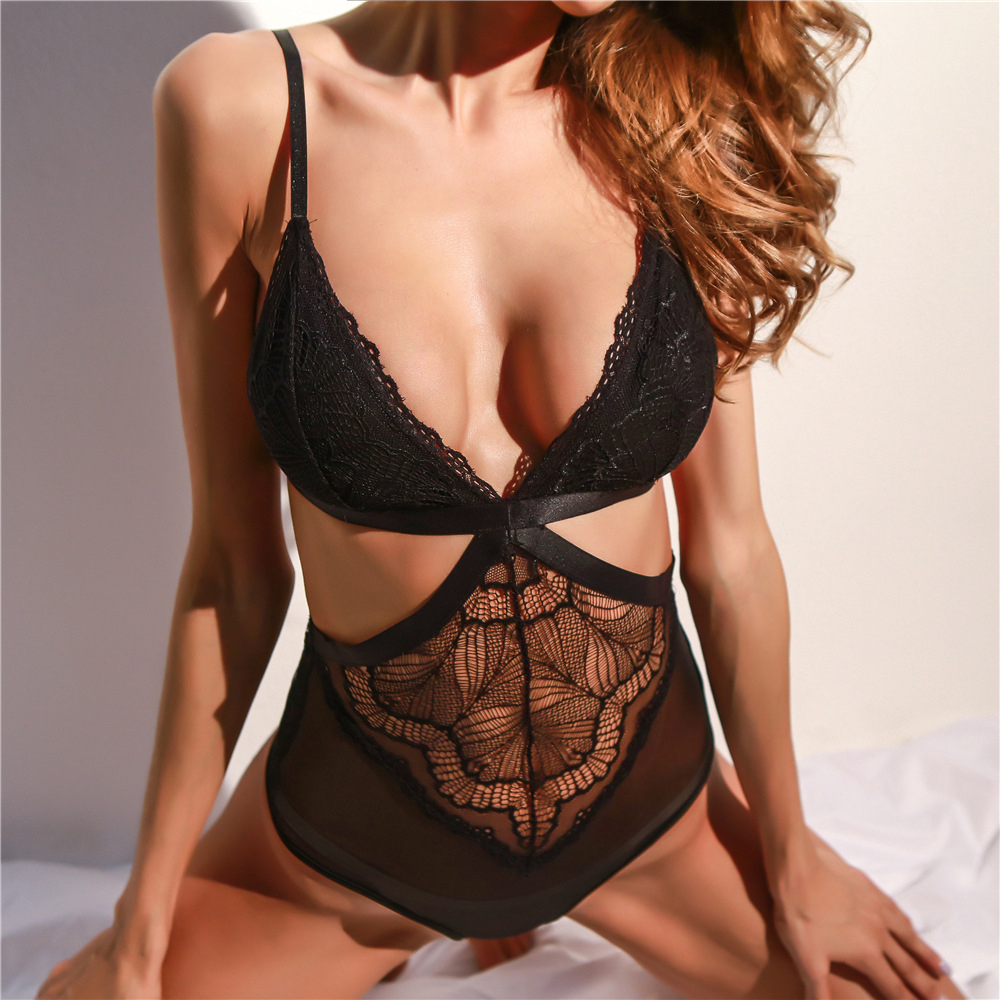 Image 5 - SSWILD LADY  Women Sexy Lace Bodysuit  See Through Patchwork  Body Suit Erotic Costume Sex Clothing Teddy Lingerie 2997-in Teddies & Bodysuits from Novelty & Special Use