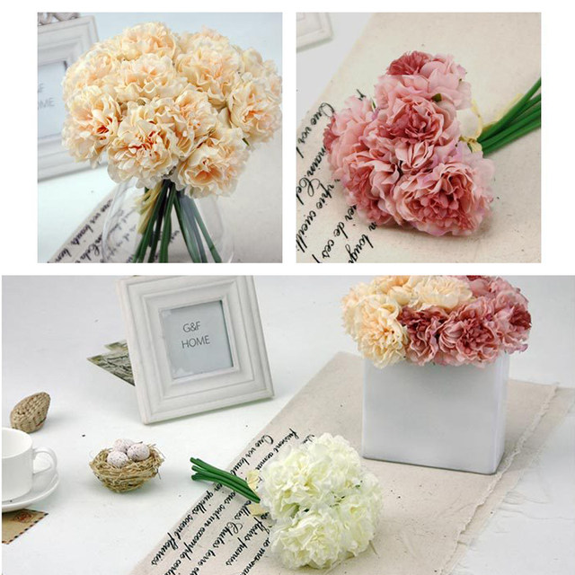Online shop 5 heads peonies artificial flowers peony bouquet silk 5 heads peonies artificial flowers peony bouquet silk fake flowers bridal bouquet for home party wedding garden decoration mightylinksfo