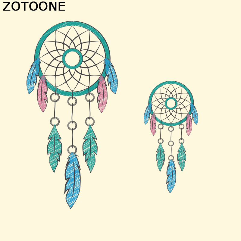 ZOTOONE Dreamcatcher Patches Cheap Iron On Transfer Stickers Heat Transfers Patch For Clothing  T shirt DIY Fabric Applique D