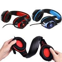 Gaming Kopfhörer Für telefon Für PS4/PSP/PC 3,5mm Verdrahtete Kopfhörer mit Mikrofon Noise mit LED lampe Kopfhörer