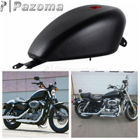 Motorcycle Black 3.3 Gallon EFI Gas Fuel Tank for Harley Sportster XL 1200 883 2007 2017