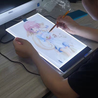 New Ultrathin 3 5mm A4 LED Light Tablet Pad Apply To EU UK AU US USB