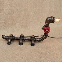 Винтаж Ретро черный мастерской животного Caterpillar настольная лампа E27 светильники бра для прикроватная тумбочка для спальни мастерская офиса