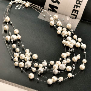 ZN Fashion Necklaces For Women 2019 Statement Necklace Chain Pearl Necklace Banquet Wedding