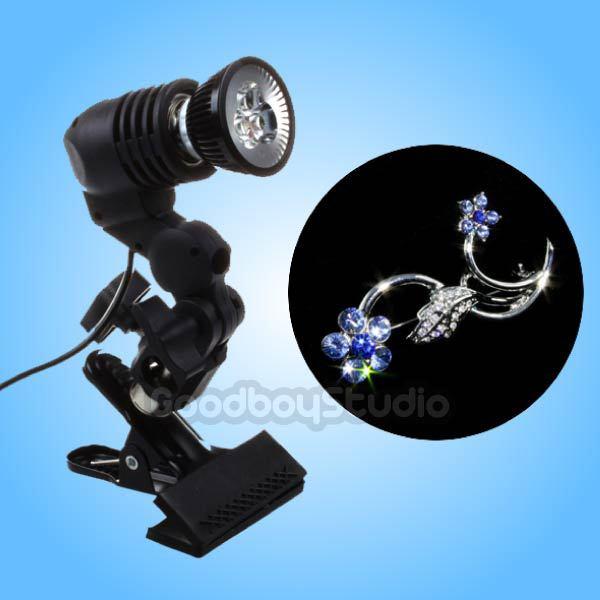 LED Jewelery Diamond Spotlight Studio Photography Jewelry Light Sparkler Light with Clamp