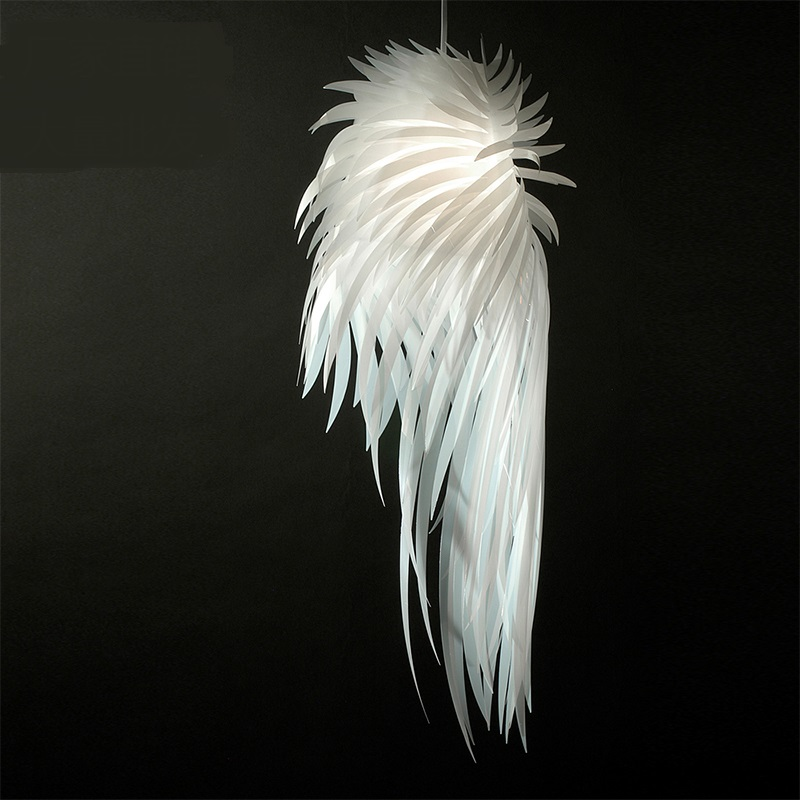 A1 Pendant Lights modern creative feather dining room bedroom hotel decoration project angel wings Pendant lamps ZL350