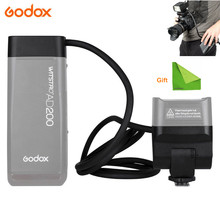 Godox EC200 200W Extension Flash Head for Godox AD200 Flashpoint 1.85m Long Extend Cable with AD200 Bare Bulbs Speedlite Head godox ad s13 ad s16 portable light boom stick floor stand flash tripod kit for godox ad200 ad180 ad360 ad360ii etc speedlite